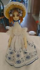 Vintage Doll with Stand Face Looks like Bisque Body is Vintage Hard plastic
