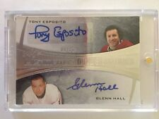 2015 Ultimate Tony Esposito Glenn Hall Auto /15 Dual Signatures Leaf