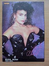 PAULA ABDUL - Rush, Rush - Lyric Card + Autograph