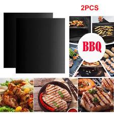 2PCS BBQ Grill Mat non-stick Oven Liners Cook Baking Reusable Sheet Pad