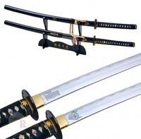"39"" High Carbon Steel Handmade Kill Bill Samurai Katana Demon & Bride Sword Set"