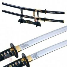 "39"" 1060 Carbon Steel Handmade Kill Bill Samurai Katana Demon & Bride Sword Set"