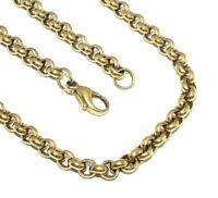 Unisex, gents/ladies 9ct yellow gold round link belcher chain