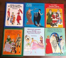 Lot 6 TOM TIERNEY Paper Dolls Uncut Princess Diana Santa Victorian Colonial