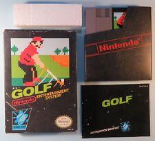 1985 Nintendo NES Golf Black Box Video Game Cartridge, Box & Manual CIB