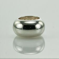 GUCCI WIDE DOME STERLING SILVER RING size 4.5 made in Italy