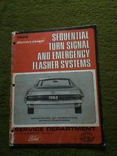 1968 MERCURY COUGAR TURN SIGNAL EMERGENCY FLASHER SYSTEM LINCOLN Manual RARE