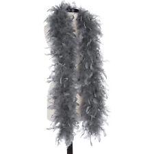 Dark Gray 40 Gram Chandelle Feather Boas - 6 Feet Long - Halloween Costumes Trim