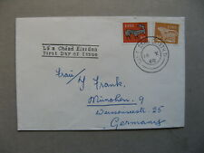 IRELAND, cover FDC to Germany 1968, early Irish art