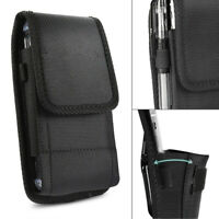 S-XL Belt Clip Black Purse Holster Carrying Case For Large CellPhone Phone Pouch