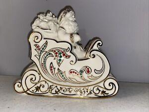 Lenox Santa & Sleigh Dash Away All Collection Christmas Ivory Jeweled