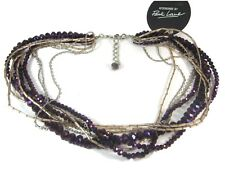 Park Lane Purple Faceted Crystal Multi Strand Statement Necklace (20)