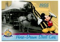 #DL-08 Horse Drawn Street Cars Disneyland 1955 Attraction 50 Years Trading Card