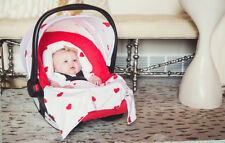 Carseat Canopy Caboodle Infant Car Seat Canopy Cover 5 piece Set Covers Ruby