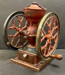 Charles Parker Cha's No. 3000 Two Wheel Coffee Grinder Mill, Original, NR