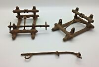 Vintage Star Wars EWOK CATAPULT 1984 Spares Frames Spindle and Arm Diorama etc