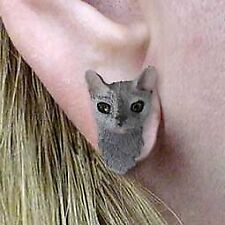 Conversation Concepts Blue Cornish Rex Earrings Post