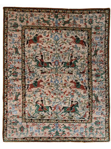 Dollhouse Miniature Artisan Silk Petit Point Rug