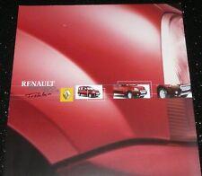 RENAULT KANGOO 4x4 TREKKA ORIGINAL SALES BROCHURE. NOV 2001. ENGLISH. VGC
