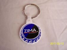 VINTAGE NOS ZIMA CLEARMALT LIQUOR ADVERTISING  BOTTLE CAP KEYCHAIN BRAND NEW !!!