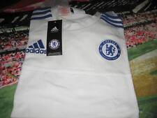 CHELSEA  ADIDAS POLY/COTTON TRAINING SHIRT XLARGE BOYS TAGS/PACKET