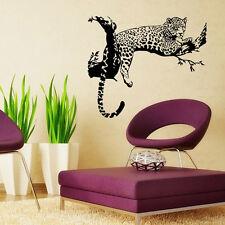 Wild Leopard Animal Black Wall Sticker Wall Decal Art Mural Home Decor DIY