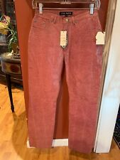 Steve Madden Ladies 4 Smoke Pink Jessie Style Leather Pants NWTS!