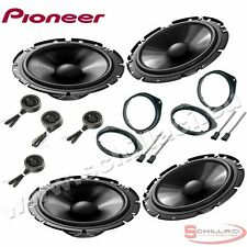 Car stereo front and rear 8 speakers kit for PIONEER Fiat cinquecento 500X with