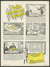 WESTERN UNION TELEGRAM Selling by Wire - 1948 Vintage Print Ad