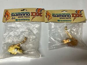 Sgimano DX left and right brake levers Gold vintage old school BMX