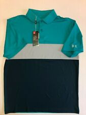 Under Armour New Performance Block Golf Polo Men's Size Large 0828