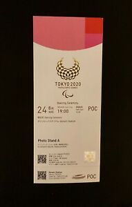 Tokyo 2020 Paralympic opening  ceremony ticket. MINT