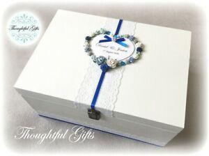 💖Large/ XXL Personalised Floral Heart Wedding Wooden Keepsake Gift/ Post Box