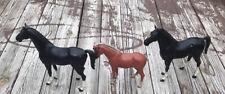 Vintage MARX Johnny West Best of the West Thunderbolt Black Horses + Pancho Pony