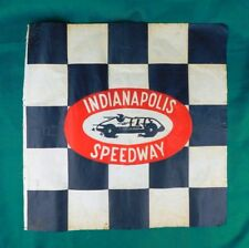 VTG 1950 Indianapolis Motor Speedway Checkered Flag Indy 500 Race Car Racing