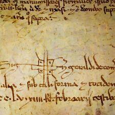 TESTAMENT OF BERNAT DE SANTA COLOMA. MANUSCRIPT PARCHMENT. CATALUNYA. SPAIN.1254