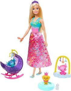 Barbie Dreamtopia Doll and Dragon Nursery Playset