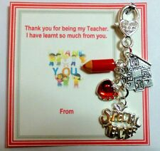 Thank you Gift of Bag Charm for SPECIAL Teacher at End of Term On Gift card