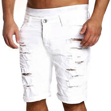 Fashion Mens Casual Ripped Jean Denim Trousers Shorts Short Pants Combat Summer