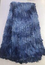 """Blue Ruffle 2way Stretch Knit Fabric 48"""" Width 1 Yard"""