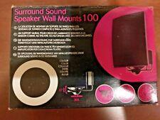 AVF Vector Surround Sound Speaker Wall Mounts 100 (1 Box/Pair) + Extras