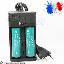 2 PILES ACCU RECHARGEABLE 18650 3.7v 3000mAh BATTERY BATTERIE + CHARGEUR RS-93