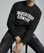 Dsquared2 Mens Cowboy 100% Cotton Sweatshirt Pullover Jumper Printed Top