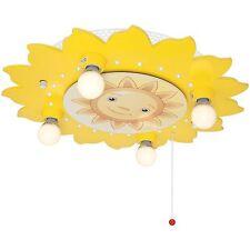Deckenleuchte Deckenlampe Kinderzimmer Sonne 4xE14 + LED * ELOBRA