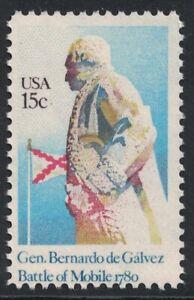 Scott 1826- General Bernardo de Galvez, Mobile- MNH 15c 1980- unused mint stamp