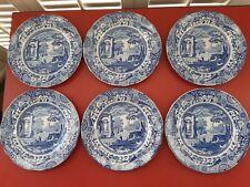 SIX Spode BLUE ITALIAN DESIGN Breakfast Side Dessert Salad Plates