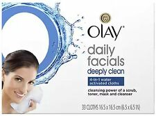 Olay Daily Deeply Clean 4-in-1 Water Activated Cleansing Face Cloths 33ct (6pk)