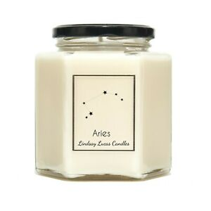 Aries Star Sign SCENTED CANDLE, Zodiac Constellation Astrology Gift,