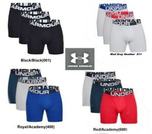 Large 408 Under Armour Mens Tech 3-inch Boxerjocks 1-Pack Academy //Royal