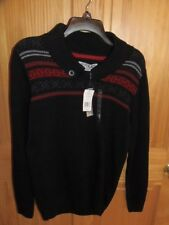 SILVER LAKE - MEN - SWEATER - BLACK - SIZE X-LARGE  (GRN-118-11)